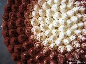 Pastel de chocolate y frutos secos