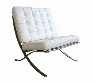 Barcelona Chair White Leather Chair Chicago Furniture Furniture
