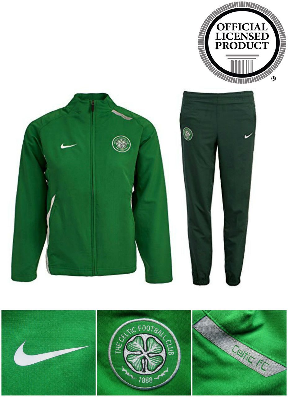 Officially Licenced Celtic Football Club Junior Fan track suit. Green  embarking Celtic s Image   History. A young Fan s possession. 3e6eb661e