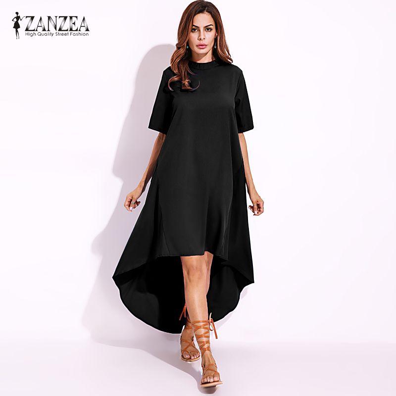 2017 ZANZEA Oversized Women Summer Vintage O Neck Short Sleeve ...