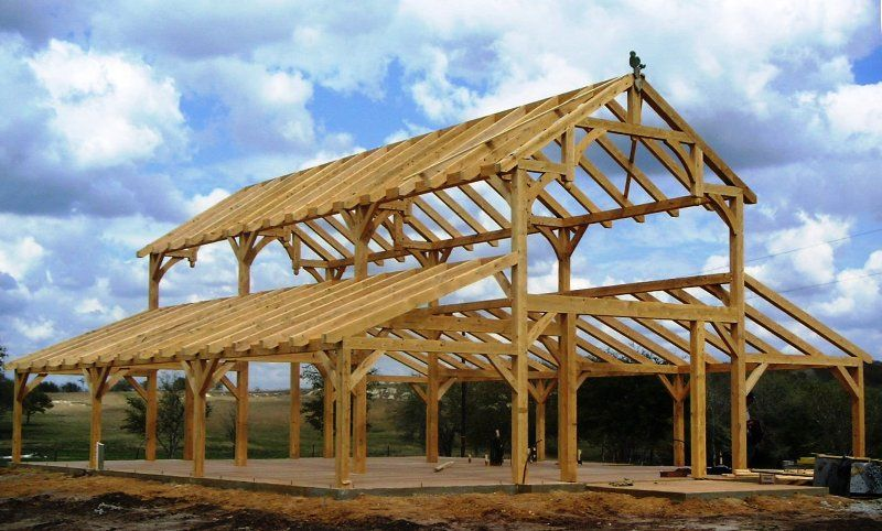 Heavy timber construction kits timber framed party barn for Party barn plans