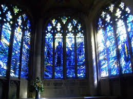 Gloucester Cathedral - South Chapel - indigo stained glass window | by Kumukulanui