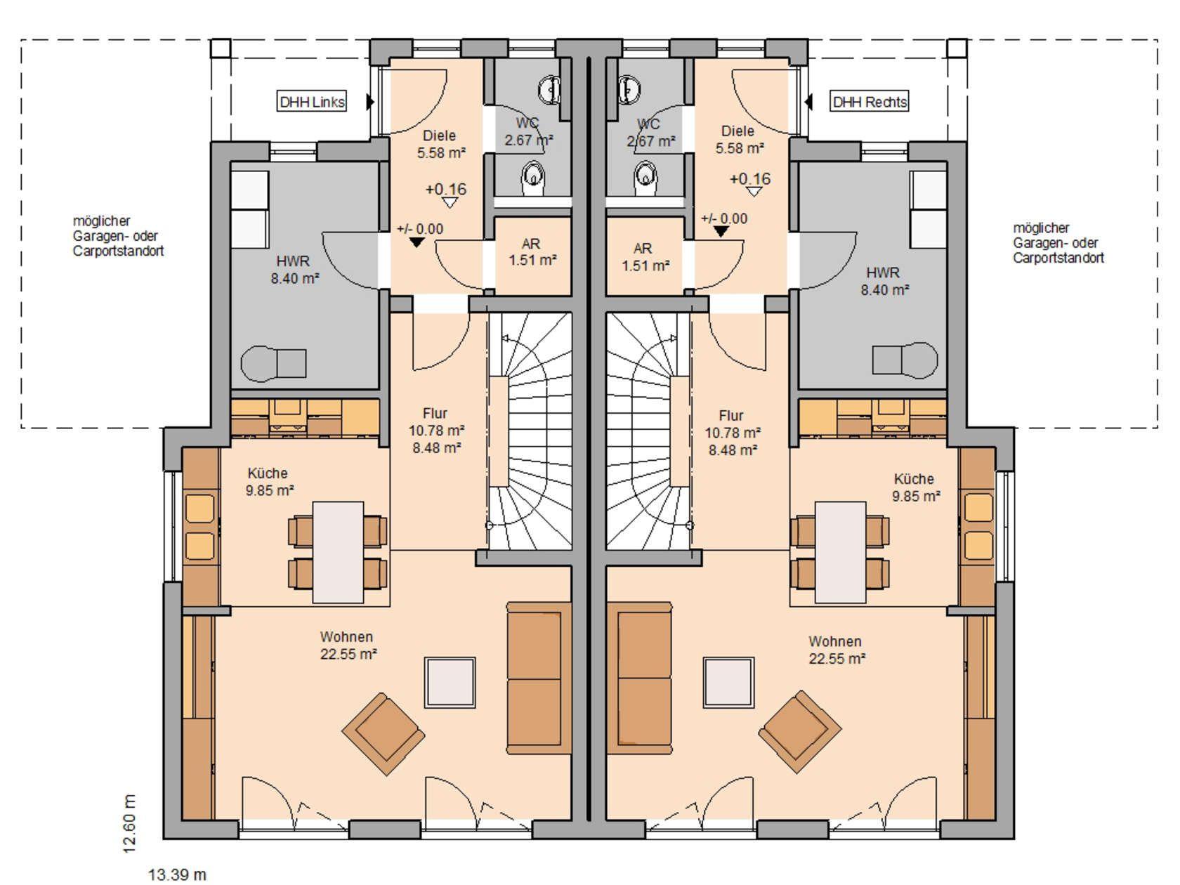 Doppelhaus Linus L | Schlafzimmer Mit Ankleide