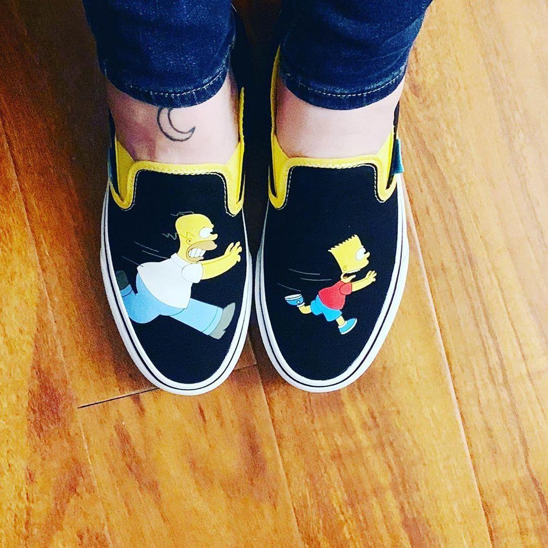 Vans x Simpsons Slip On Homer and Bart