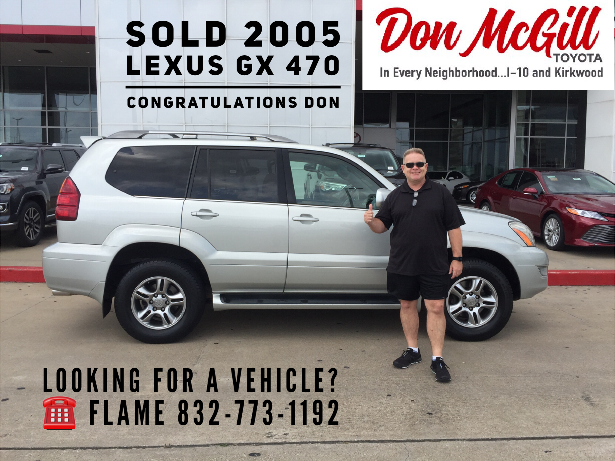 Great Don McGill Toyota 11800 Katy Freeway Houston, TX 77079 Call Or Text Flame @  832