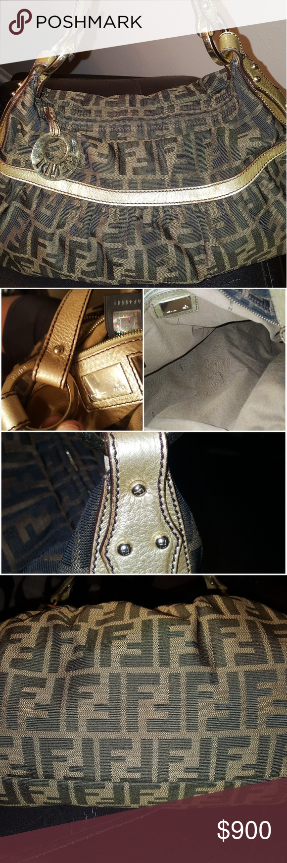 ... new zealand genuine fendi zucca hobo bag like new fendi plate still has  protection film. ... 0f6535b7c5
