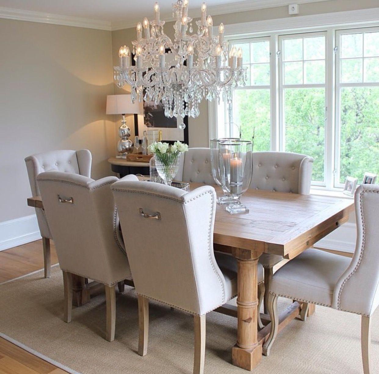 pinterest | @enticemedear ♡ | Cream dining room, Interior ...