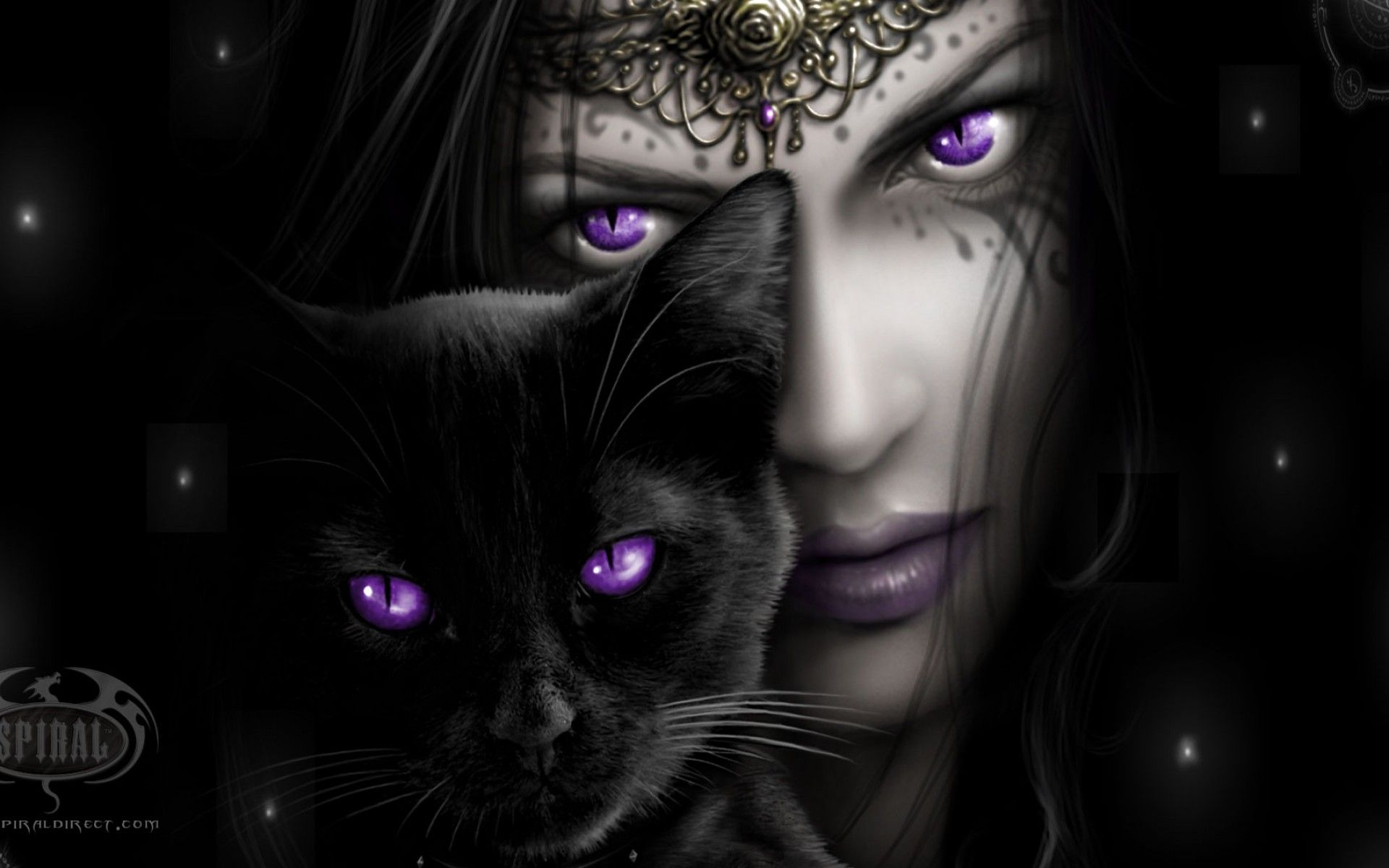 Female Vampire Wallpapers 2880 X 1800 2560 X 1600 1920 X 1200 1680 X 1050 1440 X 900 1280 X 800 Mujer Gato Oscuro Gotico Black Cat