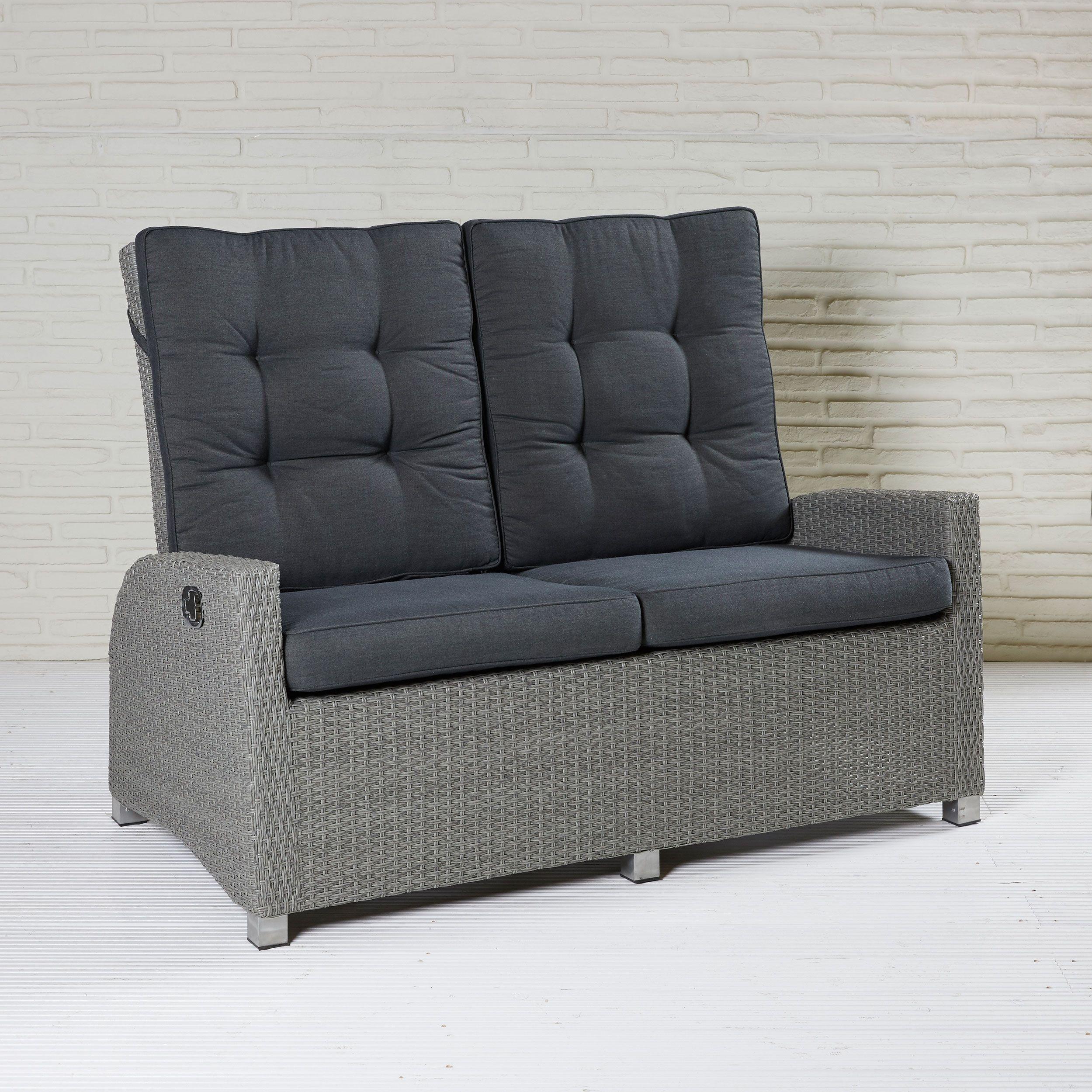 Zweisitzer Gartensofa Mit Verstellbarer Ruckenlehne Couch Mobel 2er Sofa Gunstige Sofas