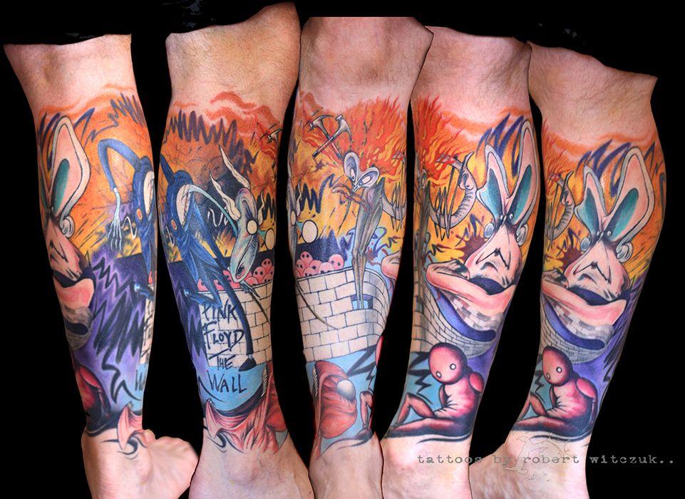 Pink Floyd Tattoos Tats Leg Sleeve Tattoo Tattoos Pink Floyd