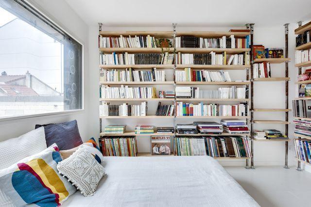 Maison Romainville  200 m2 décorés pour une famille Bibliotheque - Construire Une Maison De 200m2