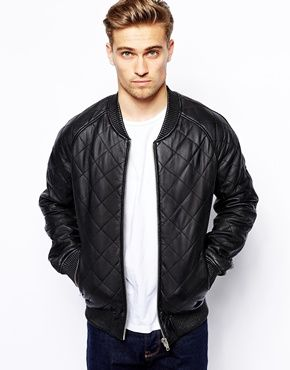 Barneys Quilted Leather Bomber Jacket | E7buy好康推薦 | Pinterest ...