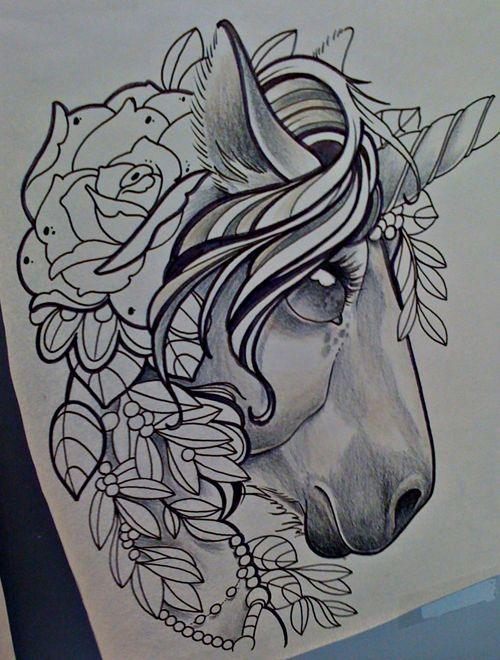 unicorn tattoo @ashley walters gross think we should get matching