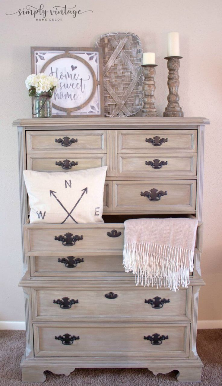 How To Get A Weathered Wood Look With Paint Simply Vintage Creations In 2020 Painted Bedroom Furniture Chalk Paint Bedroom Furniture Colorful Furniture