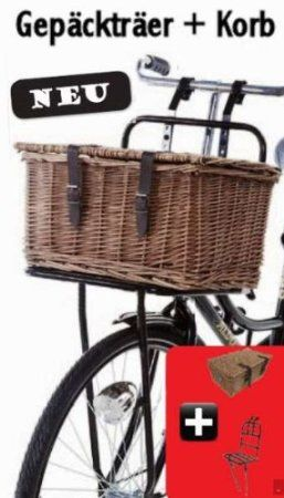 robuster und gro er fahrrad gep cktr ger mit korb. Black Bedroom Furniture Sets. Home Design Ideas