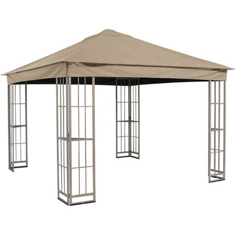 Garden Treasures 10 X10 Canopy For S J 109dn In Taupe Gazebo