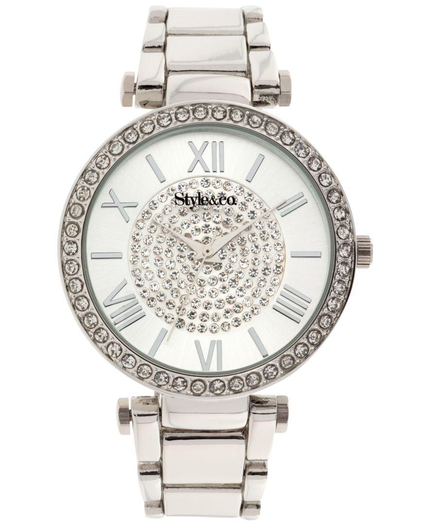00464ef3dfd2 Style   Co. Women s Silver-Tone Bracelet Watch 40mm SY003S