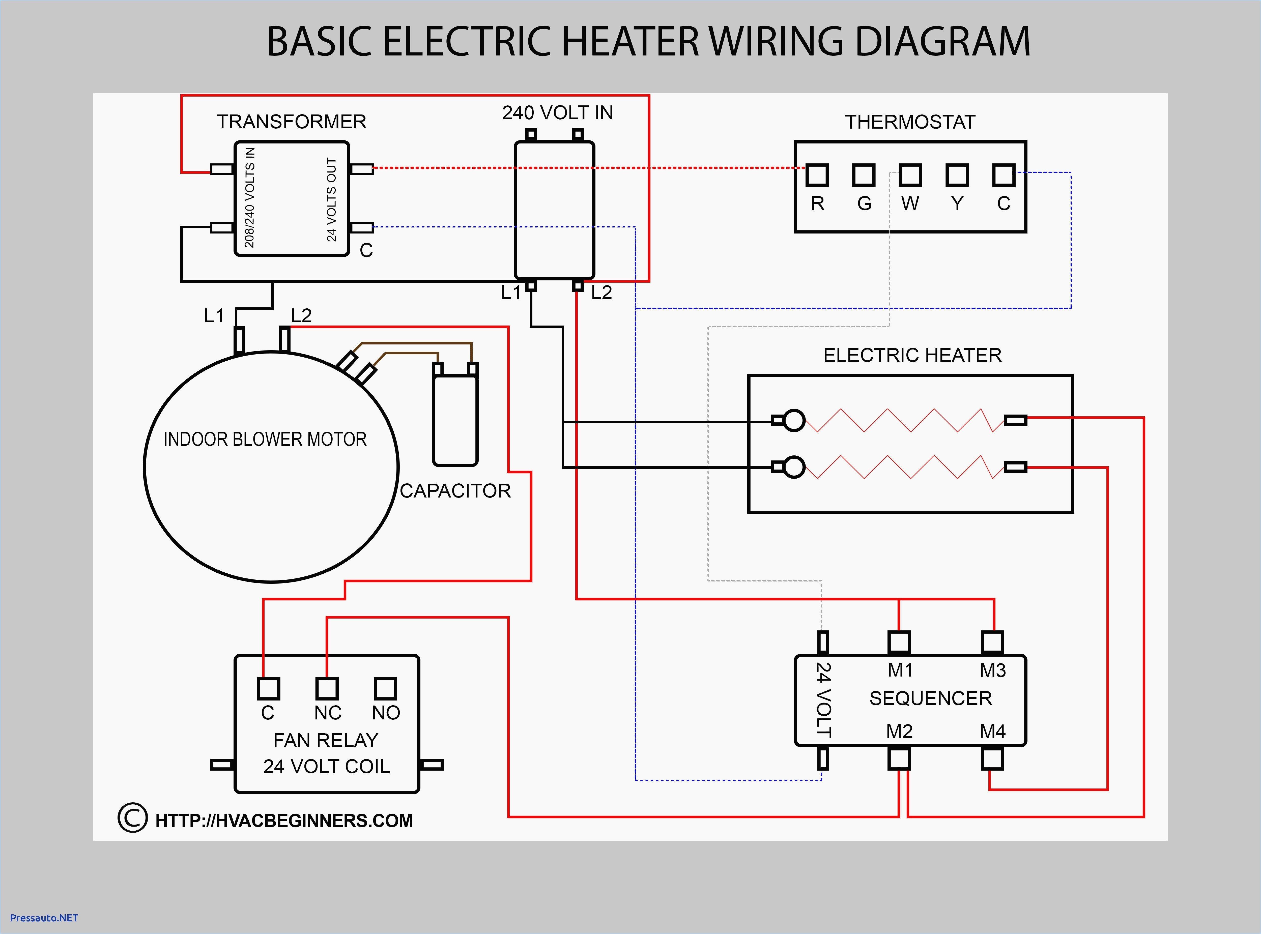 Wiring Diagram For 220 Volt Baseboard Heater Basic