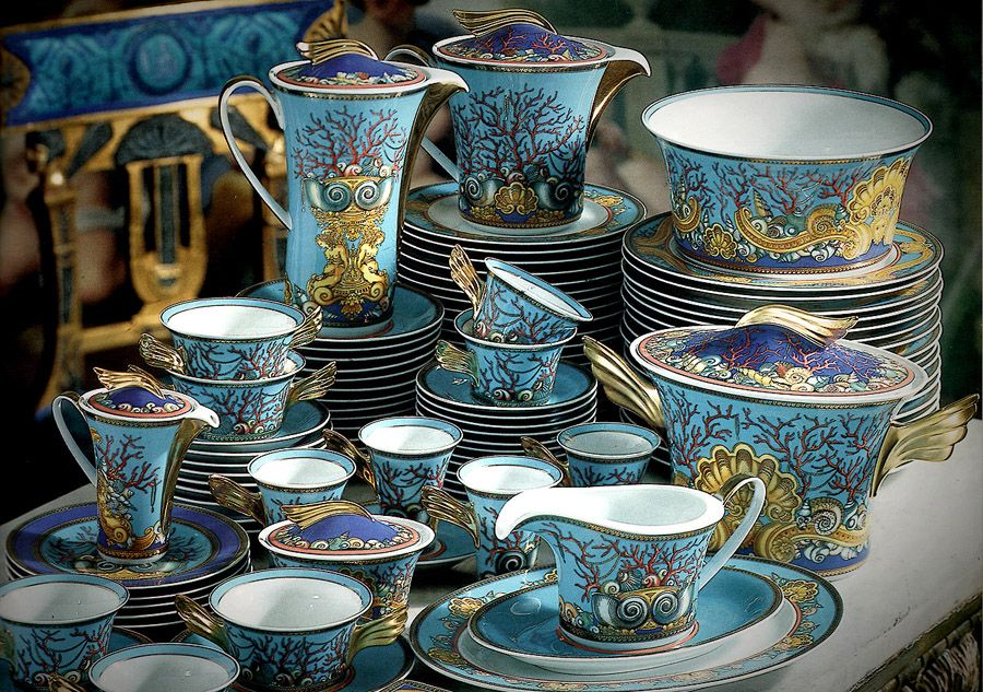 Versace Dinnerware Set-Tresors de la Mer from eLuxury ...