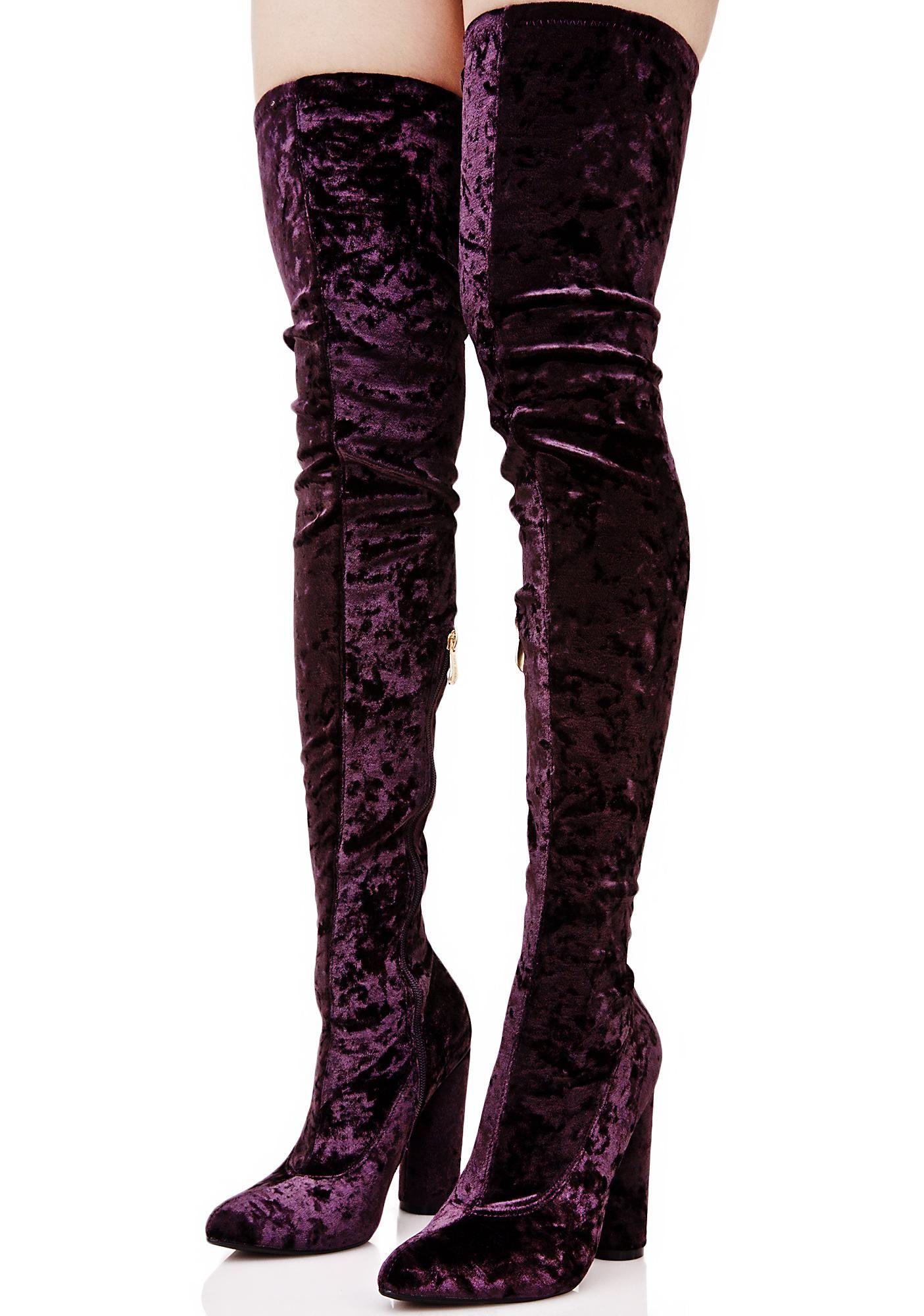 b91edb15d53 Amethyst Planetary Thigh-High Boots