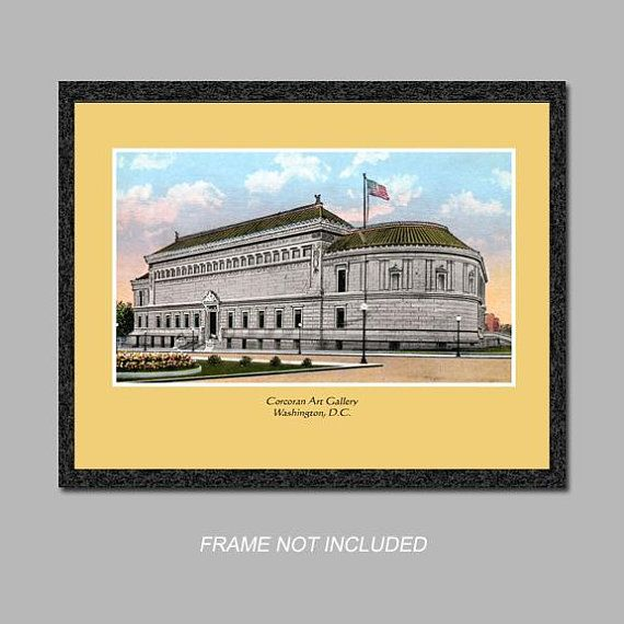 Postcard Wall Art - Corcoran Art Gallery - 8x10 Poster Print - Also ...