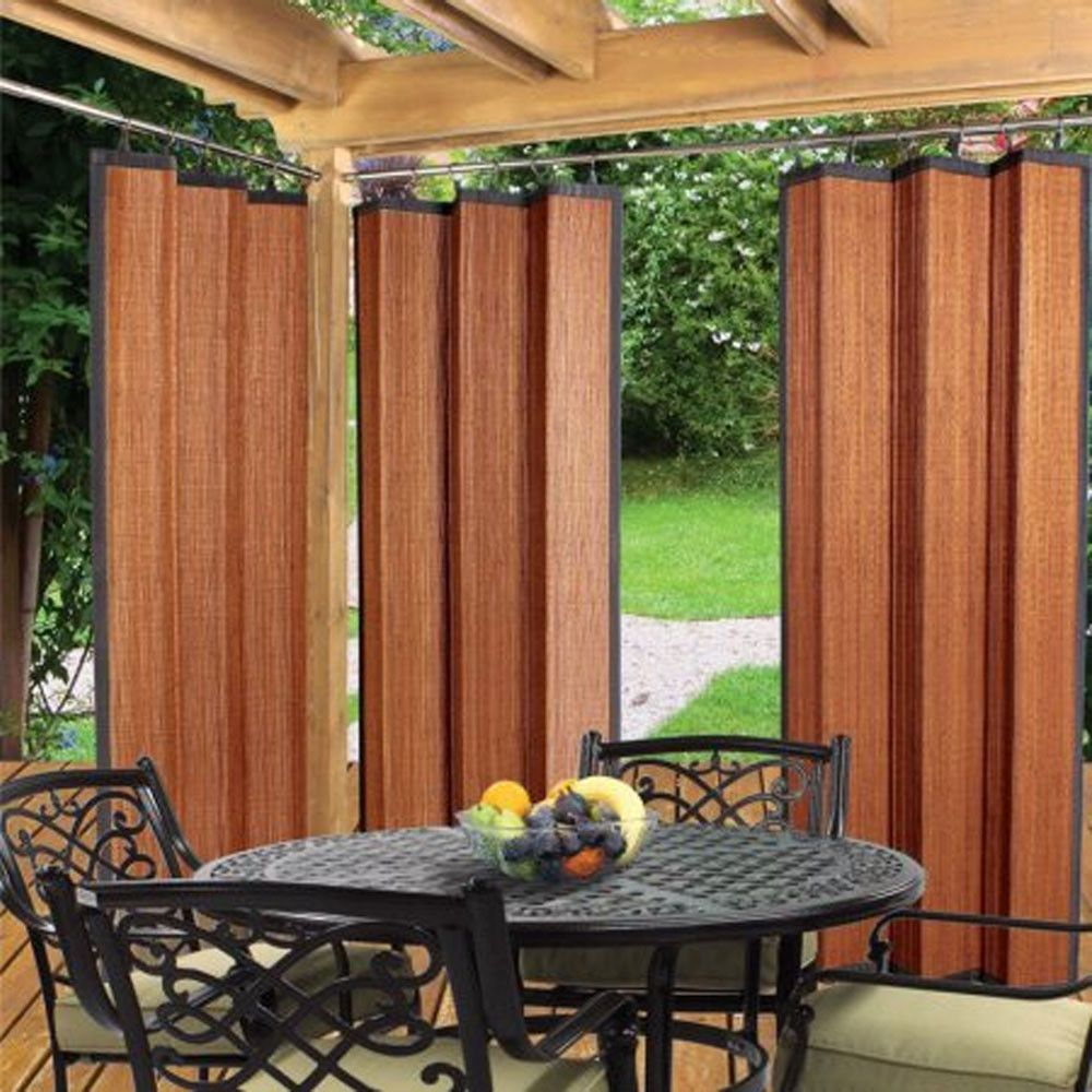 Bamboo Ring Top Indoor Outdoor Water Repellant Panel