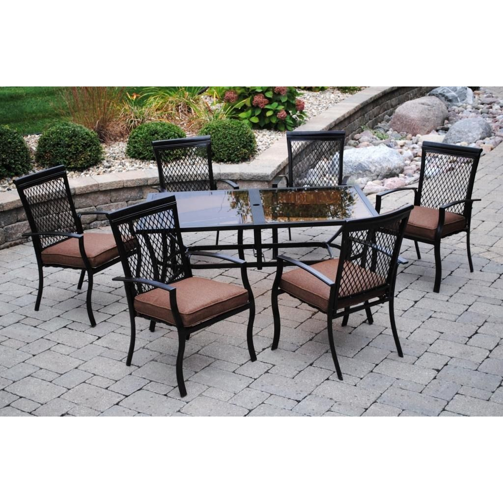 Sun Casual Geneva 7 Piece Dining Set Dining Sets Chairs