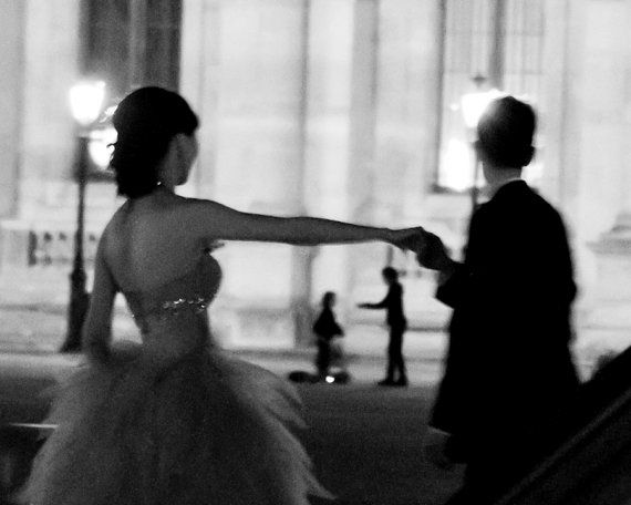 Paris Photography, Black and White Paris Print, Love Print, Paris Street Photography, Wedding Gift, Large Wall Decor, Black and White Art