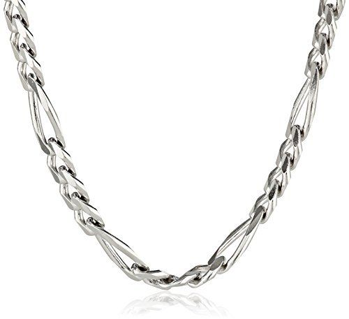 0d5c2c8bc0ae Men s Sterling Silver Italian 5.5mm Solid Figaro Link Chain Necklace ...