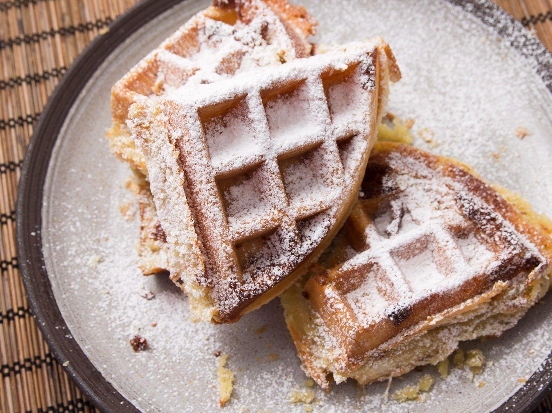 Buttery Flaky Frangipane Puff Pastry Waffles Recipe Recipe Pastry Eat Waffle Recipes