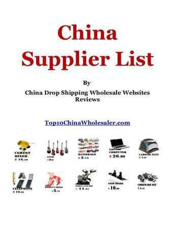 Photo of China drop shipping, suppliers and wholesale websites list