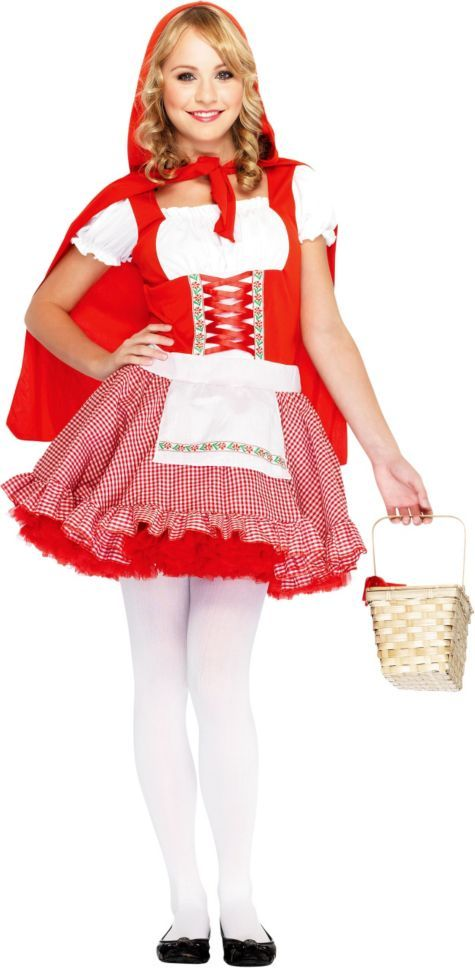 Teen Girls Classic Little Red Riding Hood Costume - Party City ...
