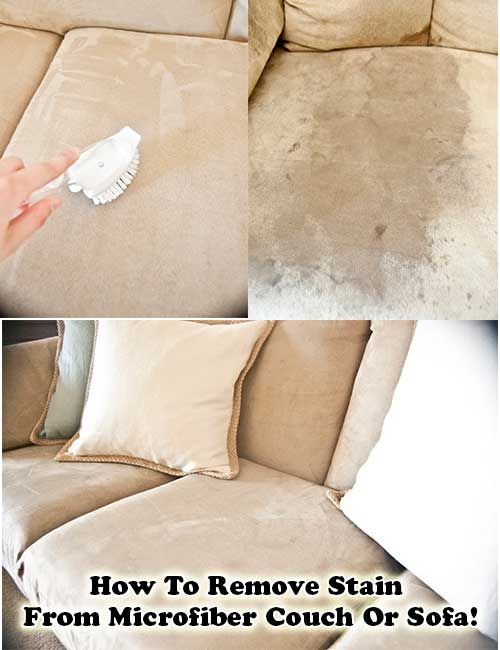 How To Remove Stain From Microfiber Couch Or Sofa