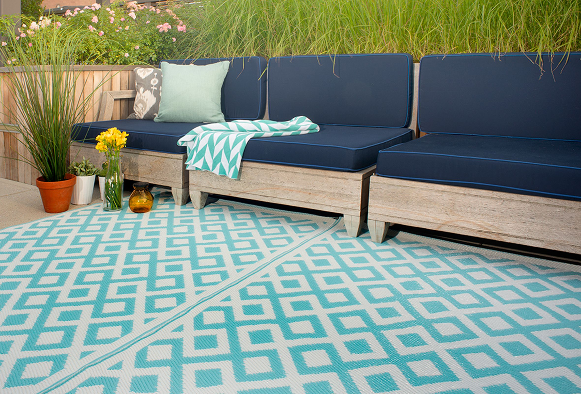 Marvelous Effigy Of Recycled Plastic Outdoor Rugs: Environmentally Friendly Choice
