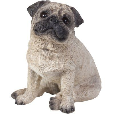 Alcott Hill Hornberger Pug Figurine Dog Sculpture Fawn Pug Pugs