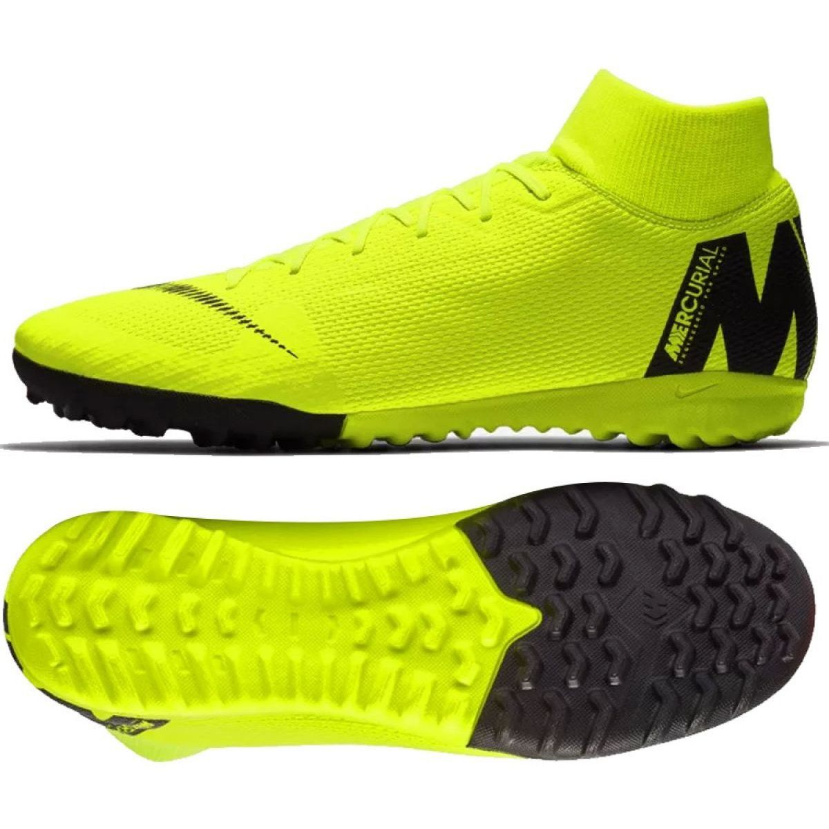 Buty Pilkarskie Nike Mercurial Superflyx 6 Academy Tf M Ah7370 701 Zolte Wielokolorowe Football Boots Nike Soccer Shoes Nike