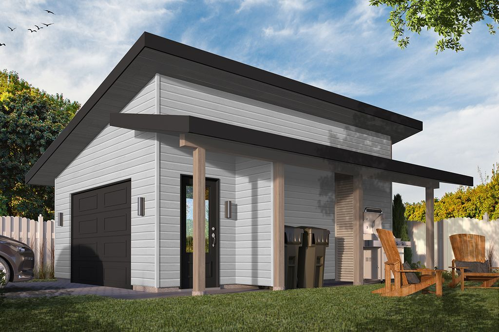 Houseplans In 2020 Shed Roof Detached Garage House With Porch