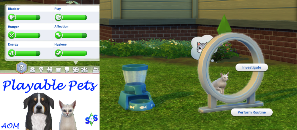 Aom Sims 4 Studio Playable Pets Mod This Mod Simply Unlocks The Ability To Control Pets It Does Not Add Change Or Fix Any Sims 4 Pets Mod Sims Pets Sims 4