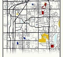 Carmel Indiana Art Map Gps By Thearttist Carmel Indiana Gifts
