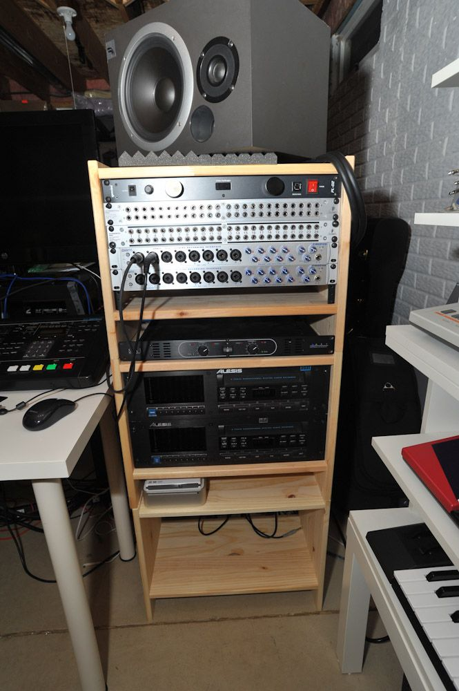 Stacked racks studio apartment pinterest for Ikea rack mount
