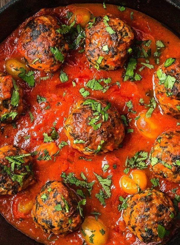 Turkey Meatball Marinara ( no egg recipe)   - Healthy Living -