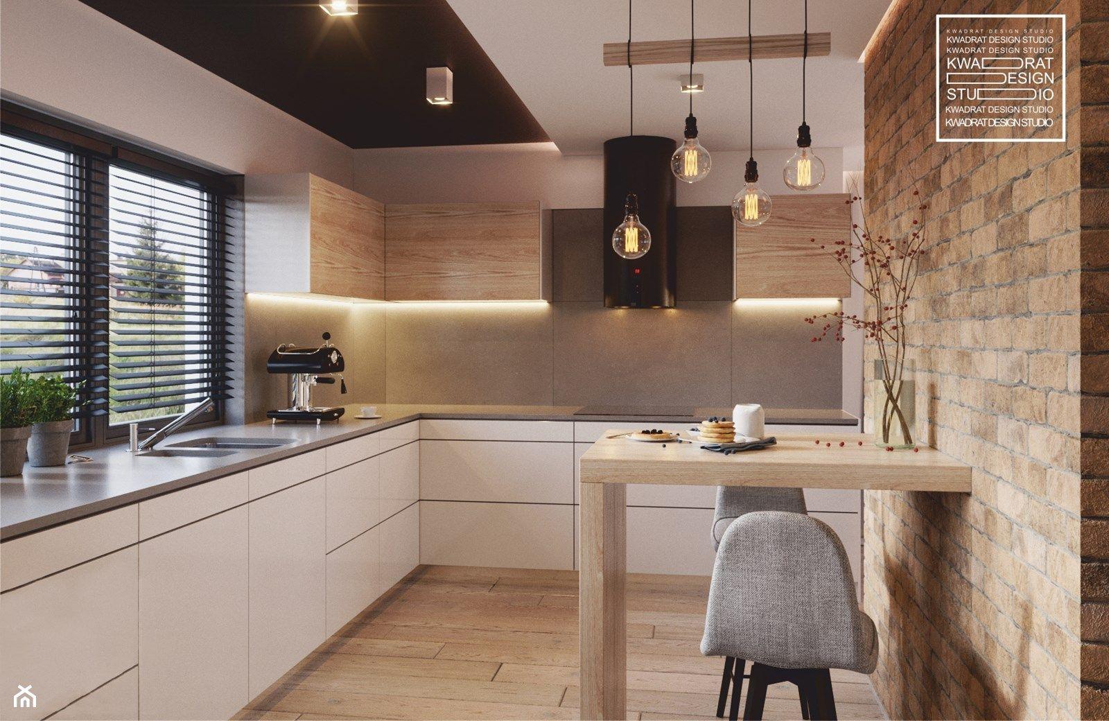 Nowoczesne Wnetrze Kuchni I Salonu Zdjecie Od Kwadrat Design
