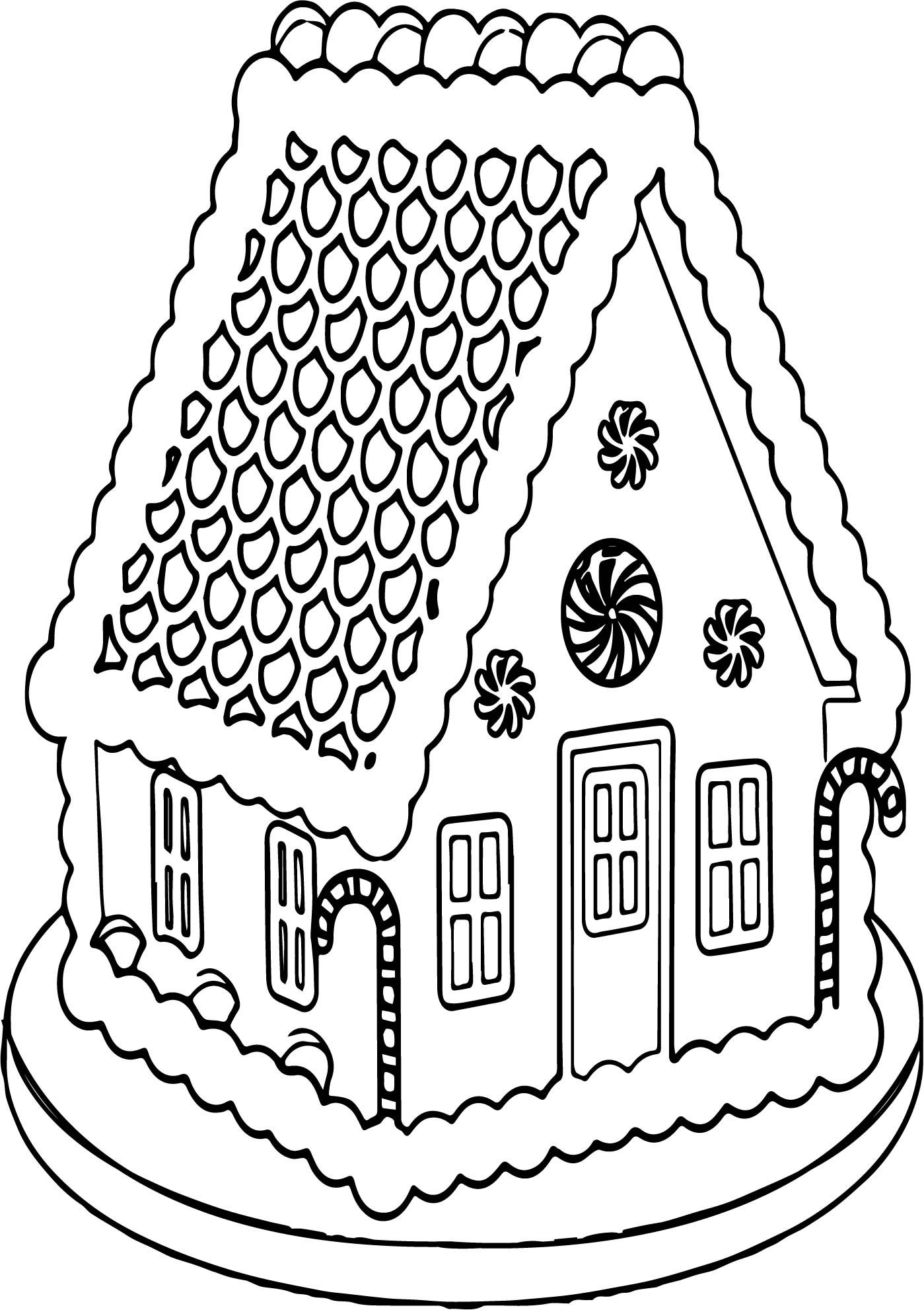 Nice Big Gingerbread House Coloring Page