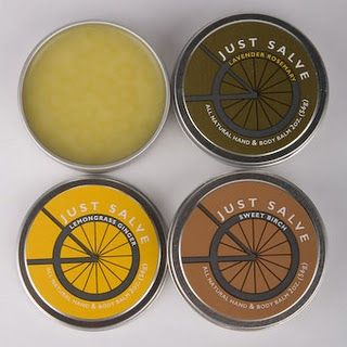 Natural Salve that's churned by bicycles! Can it get any more green hippie?