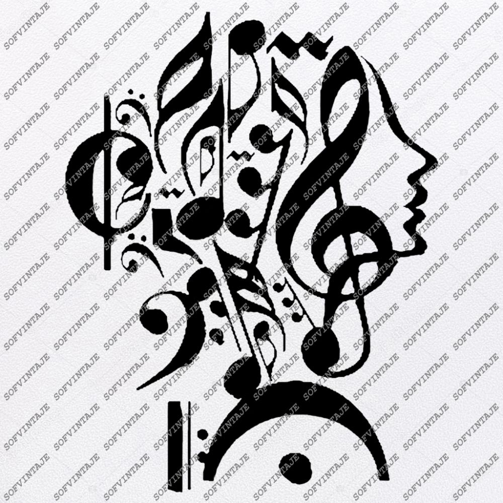 Music is My Life Svg FileMusic Svg DesignClipartGirl