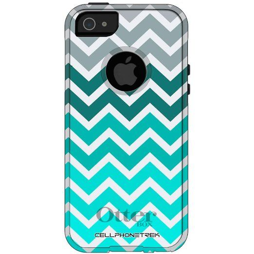 huge discount a4a62 9fbc0 Amazon.com: Otterbox Commuter Series Chevron Grey Green Turquoise ...