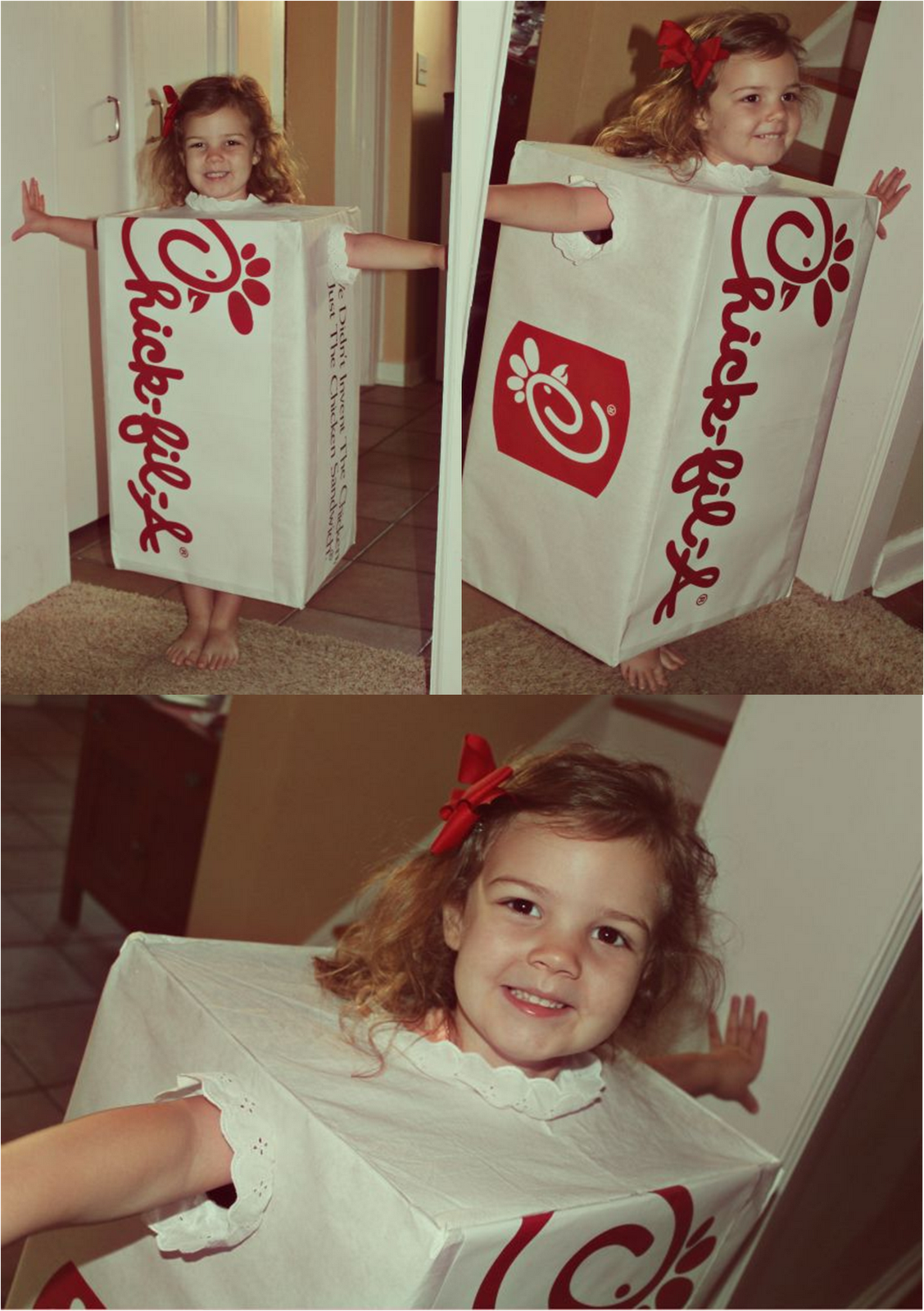 Chick-Fil-A costume. How stinkinu0027 cute!  sc 1 st  Pinterest & Chick-Fil-A costume. How stinkinu0027 cute! | Holiday Fun | Pinterest ...
