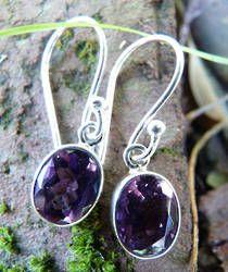 Silver Amethyst Earrings | The Power of Purple