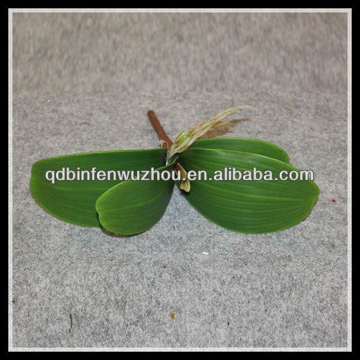 Artificial Orchids Leaves ,Artificial Plastic Leaves