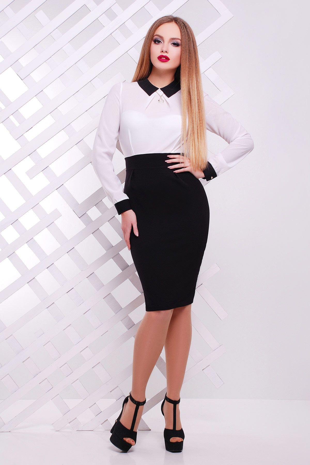 Платье с бежевым верхом и черным низом